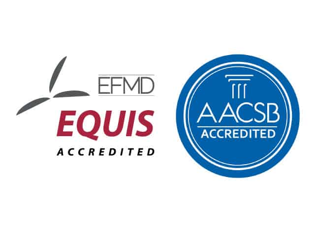EQUIS and AACSB logos