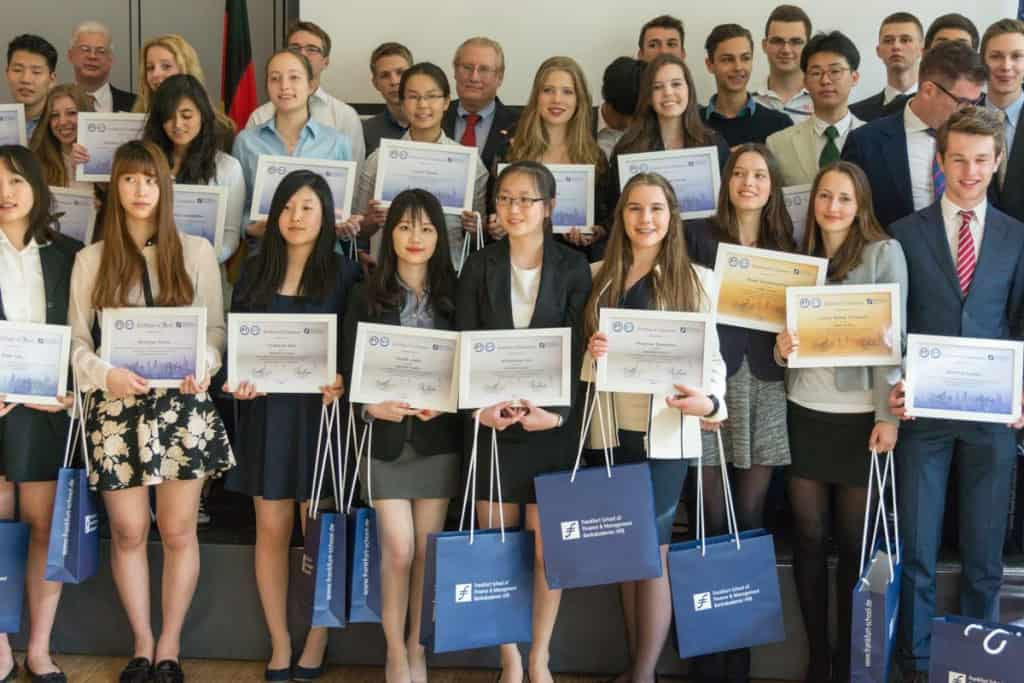 Participants of the 2015 Entrepreneurs of Tomorrow competition at Frankfurt School.