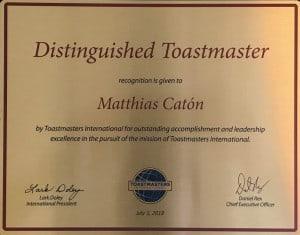 Distinguished Toastmaster Award