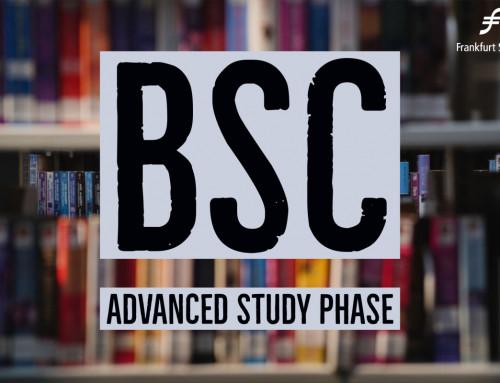 The Frankfurt School BSc Advanced Study Phase